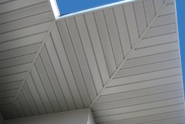 Metal soffit panels